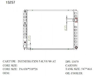 Радиатор основной Infiniti FX50 Новосибирск