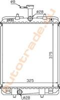 Радиатор основной для Peugeot 107